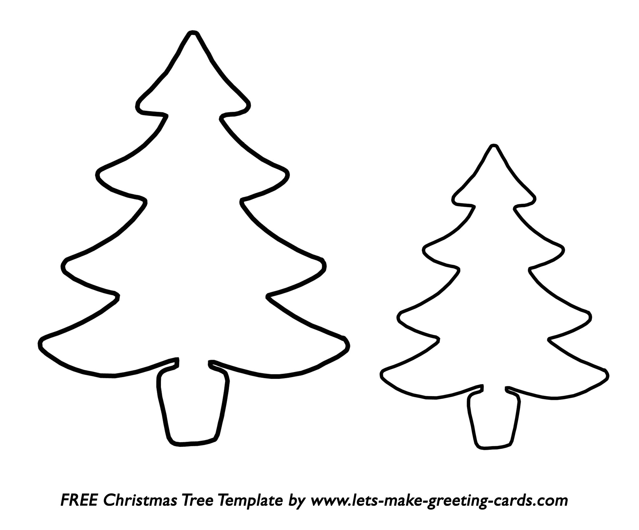 FREE Christmas Tree Template. FREE Christmas Card Ideas.